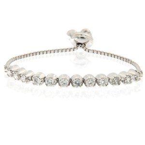 3 Carats Round Diamond Prong Set Diamond Bracelet